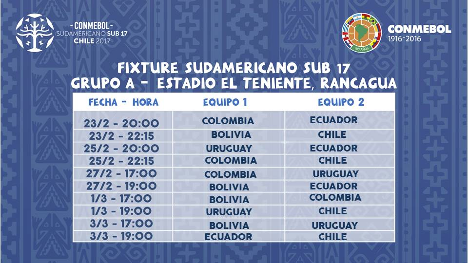 fixture a chile 2017