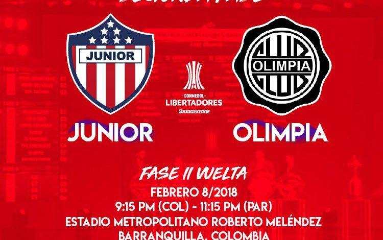 Nuevo horario: Junior vs. Olímpia se jugará a la 9:15 p.m.