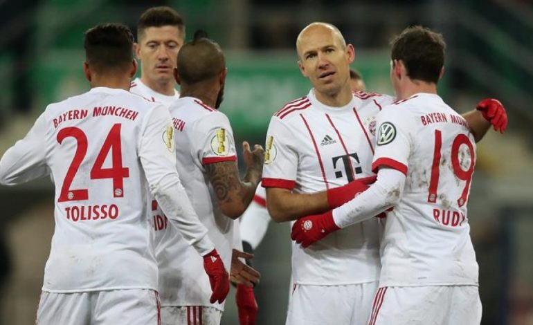 Bayern golea al Paderborn 6-0 y se clasifica a las semifinales de la Copa de Alemania