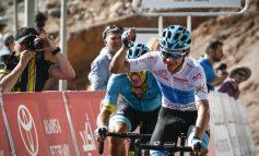 Miguel Ángel López, tercero en el Tour de Abu Dabi