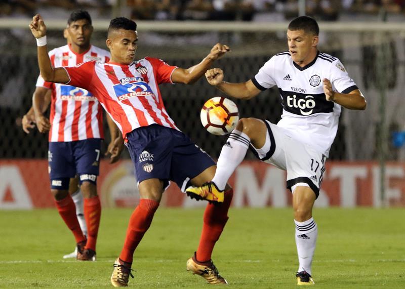 Olimpia sacó ventaja en su casa: ganó 1-0 al Junior por Copa Libertadores