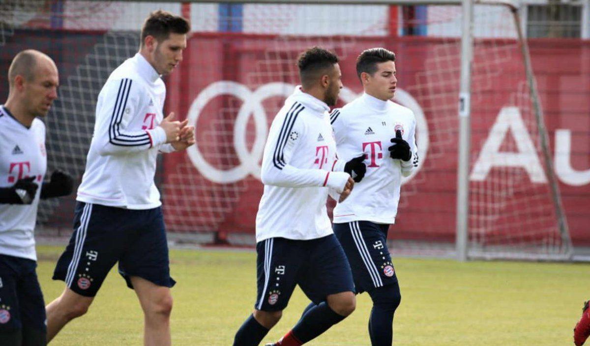James, en la convocatoria del Bayern para la vuelta contra el Besiktas