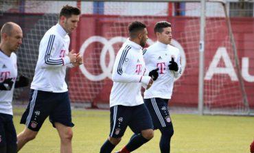 James volvió a entrenarse con el grupo en la práctica del Bayern